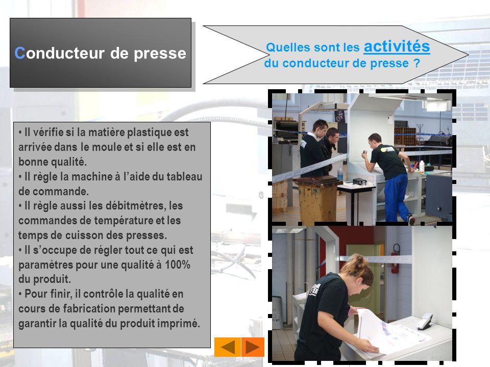 Conducteur de presse Elèves de DP3 du collège Fernande Benoist à Hazebrouck vous présentent le métier de… Référent: Mme FAIVRE - BAILLEUL Pierre - DEC