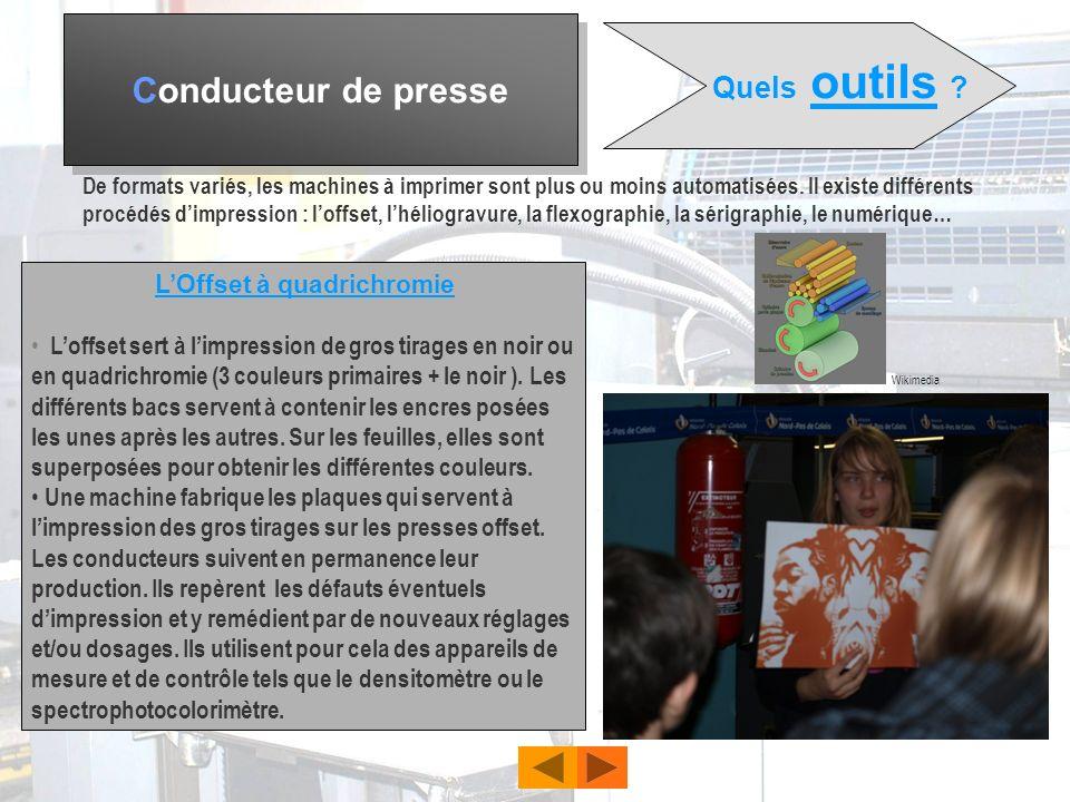 Conducteur de presse Quelles sont les activités du conducteur de presse ? Il vérifie si la matière plastique est arrivée dans le moule et si elle est