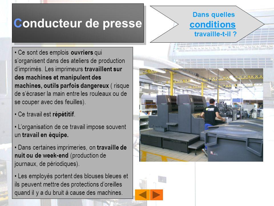 Conducteur de presse Quels outils ? LOffset à quadrichromie Loffset sert à limpression de gros tirages en noir ou en quadrichromie (3 couleurs primair