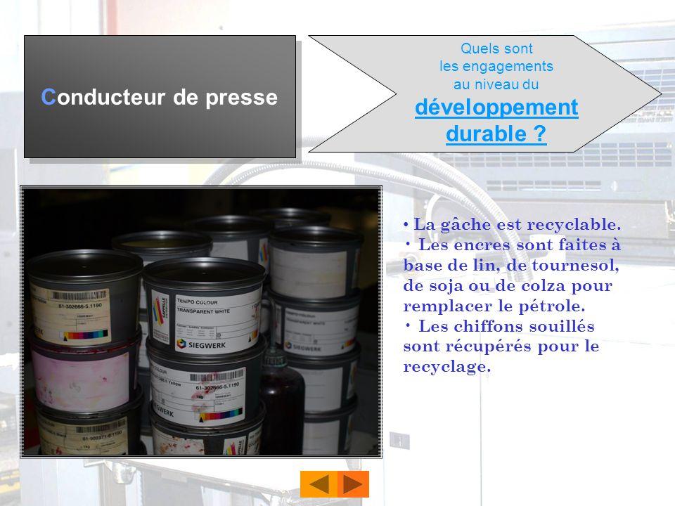 Conducteur de presse Le bac pro production imprimé en 3 ans après la classe de 3 ème conduit à ce métier. Ce bac pro peut être complété par le BTS (co