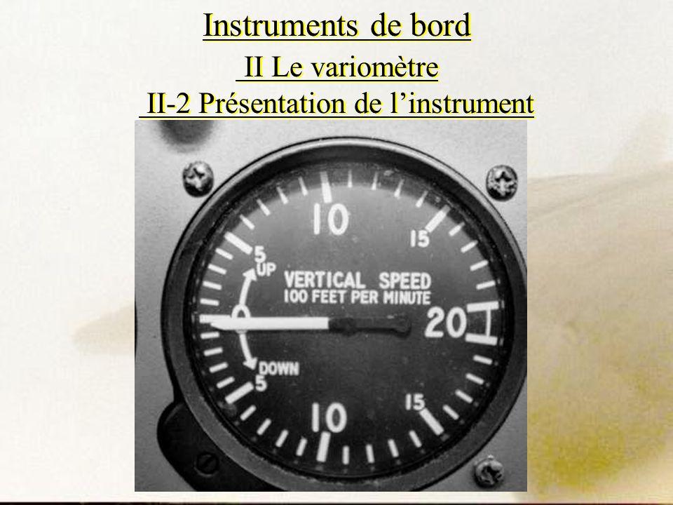 Instruments de bord II Le variomètre II-2 Présentation de linstrument