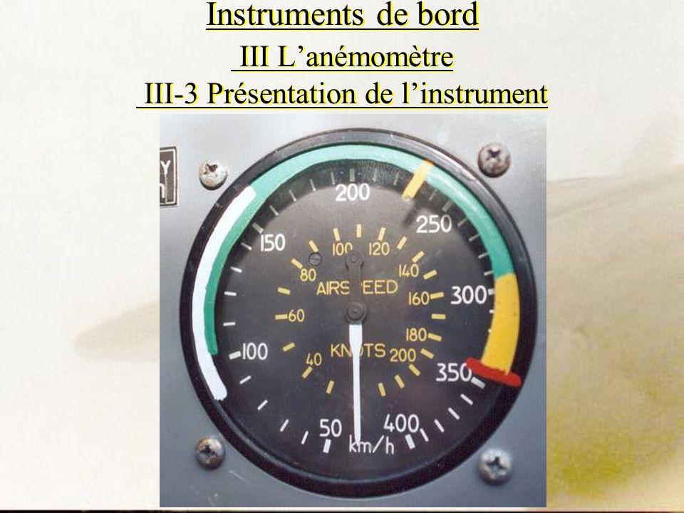 Instruments de bord III Lanémomètre III-3 Présentation de linstrument