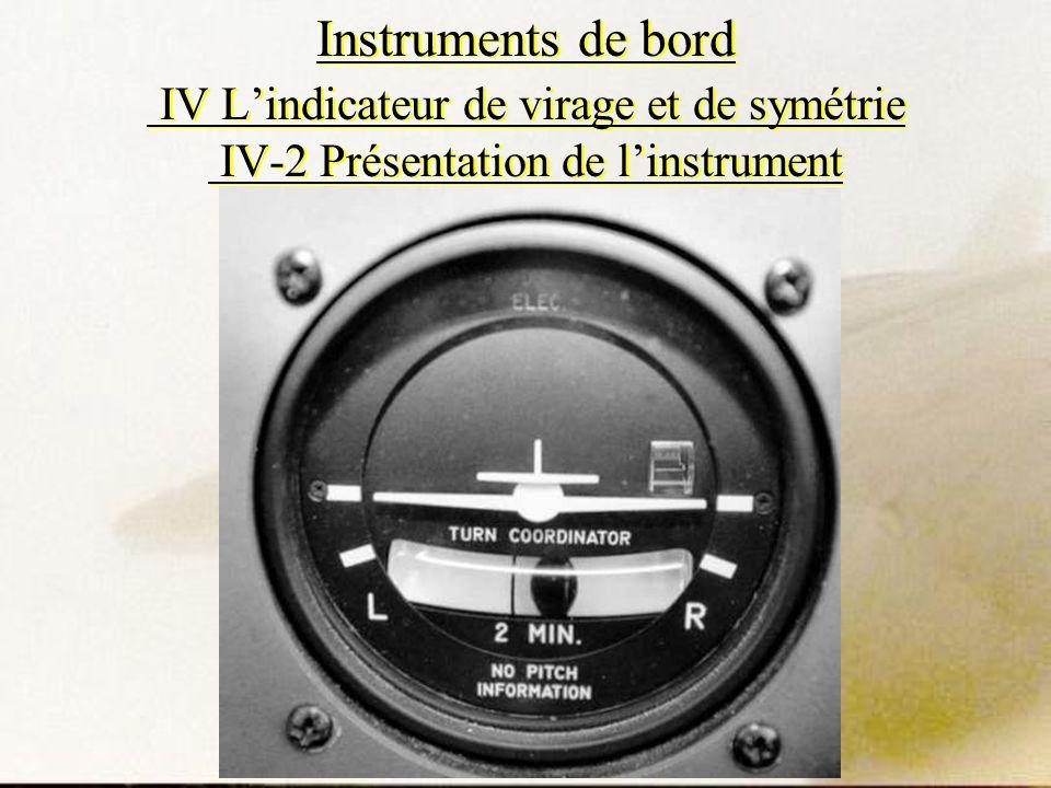 Instruments de bord IV Lindicateur de virage et de symétrie IV-2 Présentation de linstrument