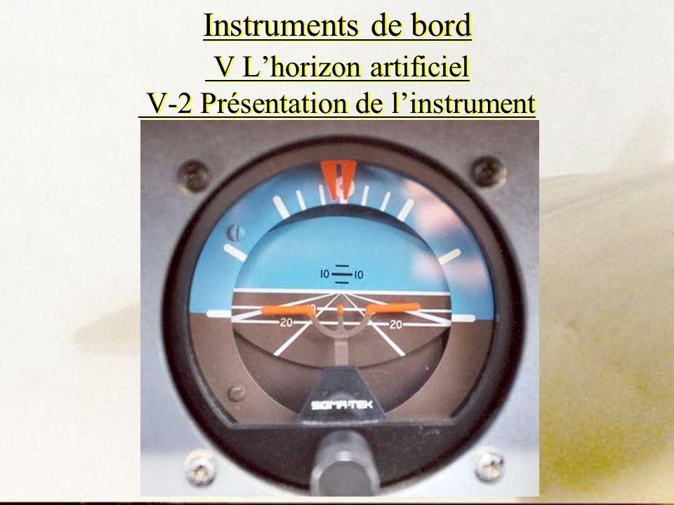 Instruments de bord V Lhorizon artificiel V-2 Présentation de linstrument