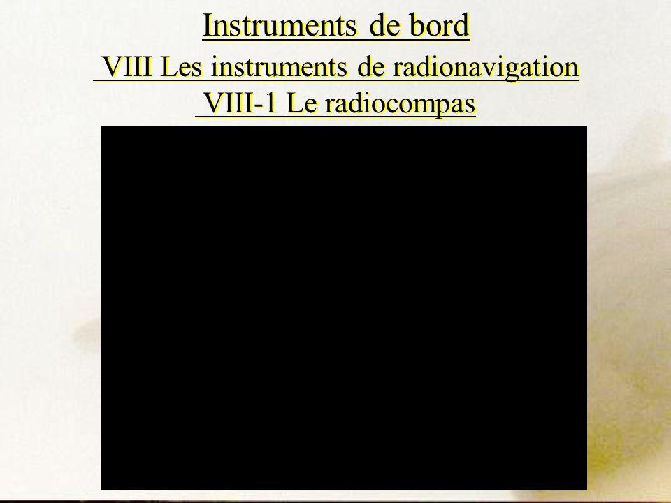 Instruments de bord VIII Les instruments de radionavigation VIII-1 Le radiocompas