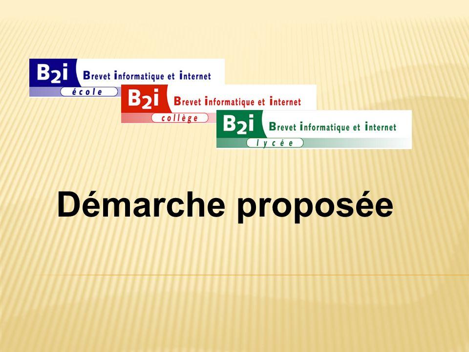 Démarche proposée