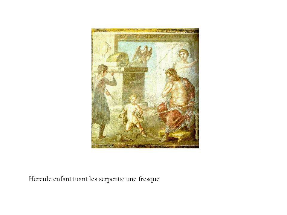 Hercule enfant tuant les serpents: une fresque