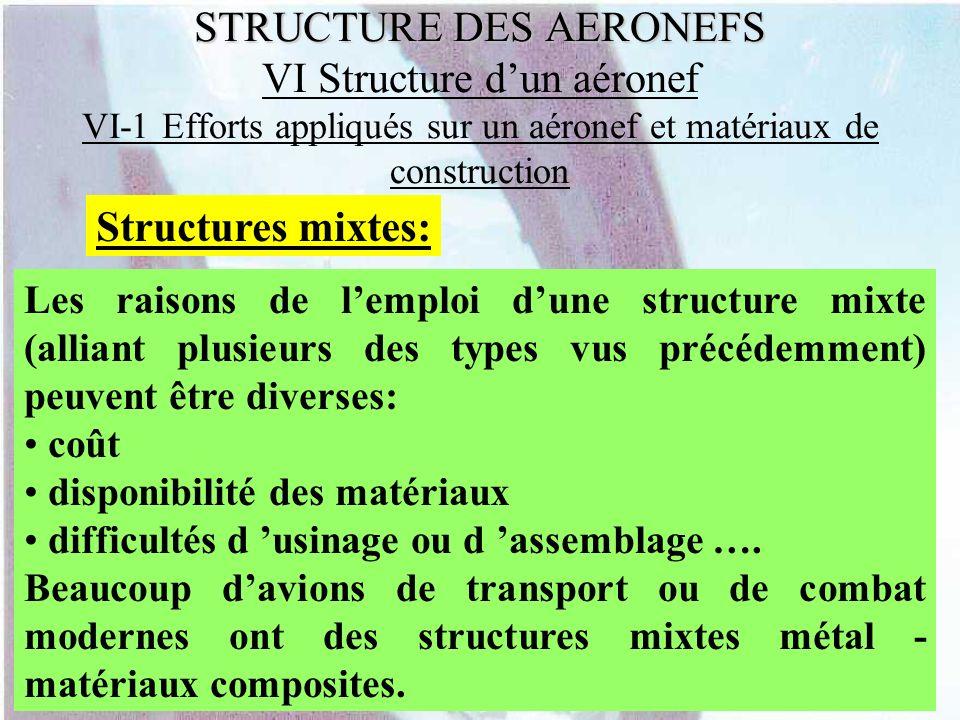 Structures mixtes: Les raisons de lemploi dune structure mixte (alliant plusieurs des types vus précédemment) peuvent être diverses: coût disponibilit