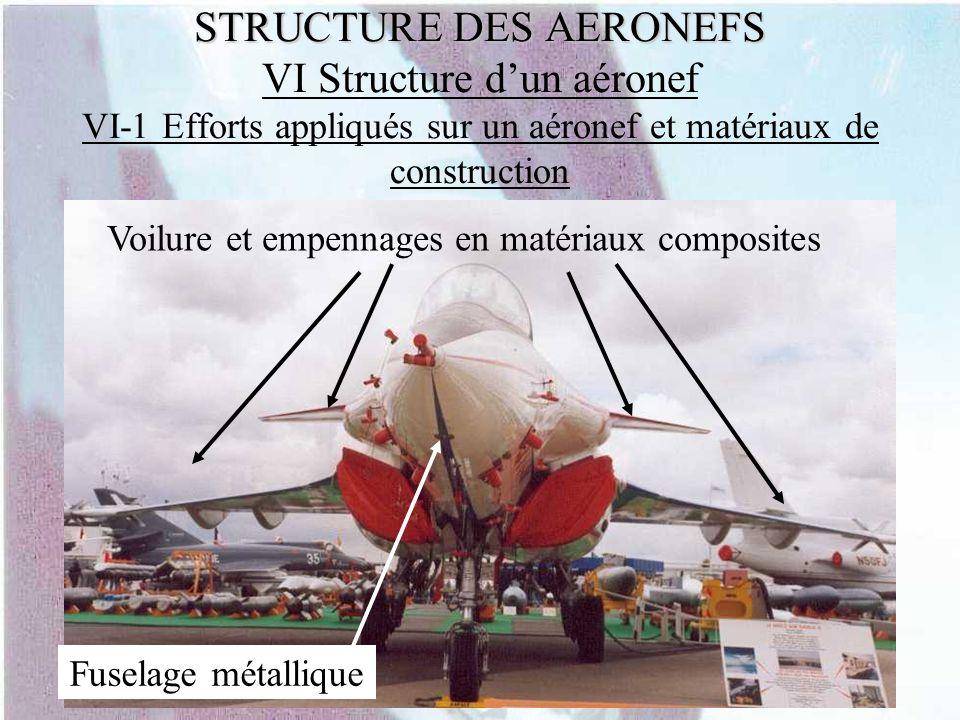 STRUCTURE DES AERONEFS STRUCTURE DES AERONEFS VI Structure dun aéronef VI-1 Efforts appliqués sur un aéronef et matériaux de construction Voilure et e