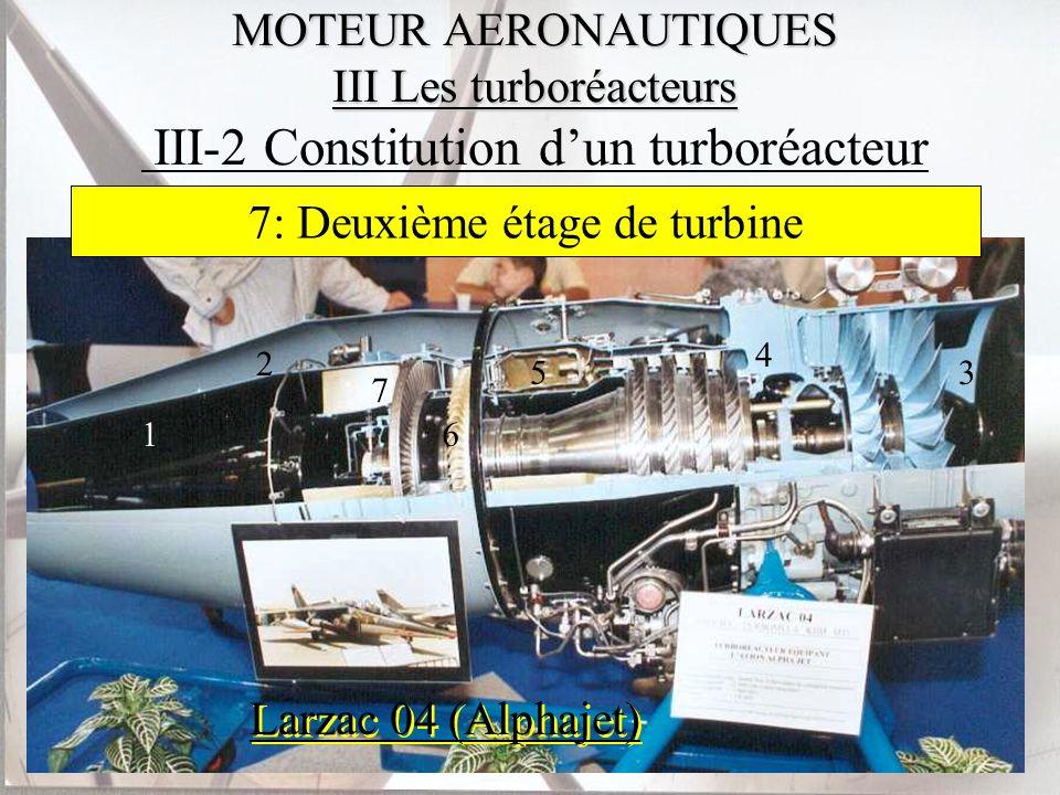 MOTEUR AERONAUTIQUES III Les turboréacteurs MOTEUR AERONAUTIQUES III Les turboréacteurs III-2 Constitution dun turboréacteur Larzac 04 (Alphajet) 1 2