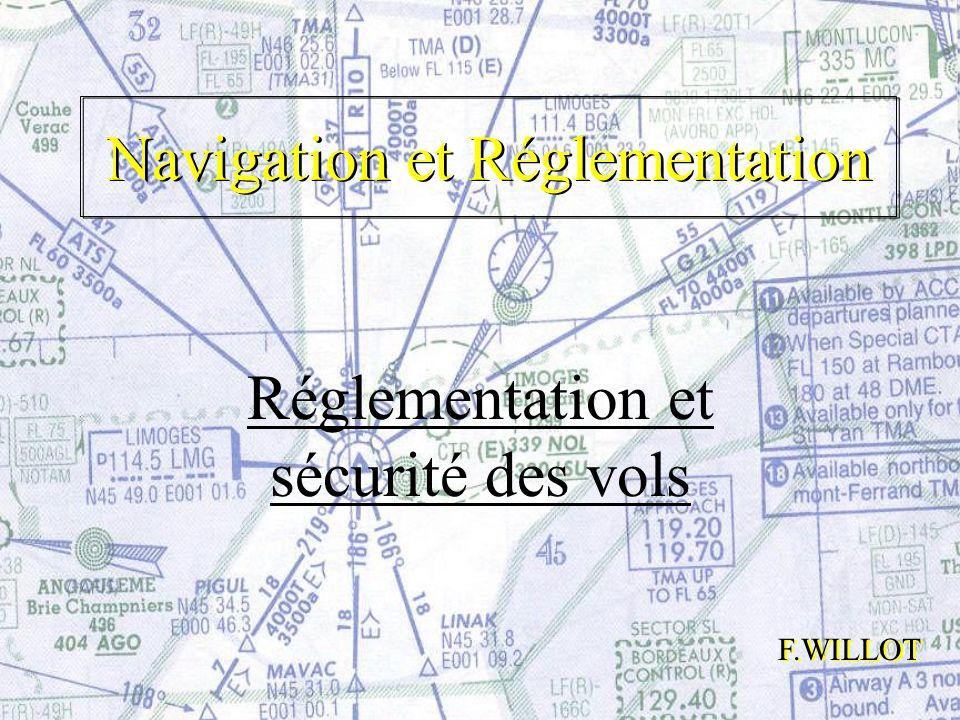 Navigation et Réglementation Réglementation et sécurité des vols F.WILLOT