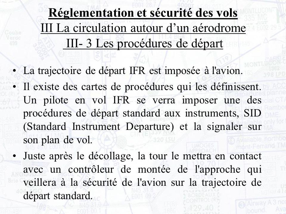 La trajectoire de départ IFR est imposée à l avion.