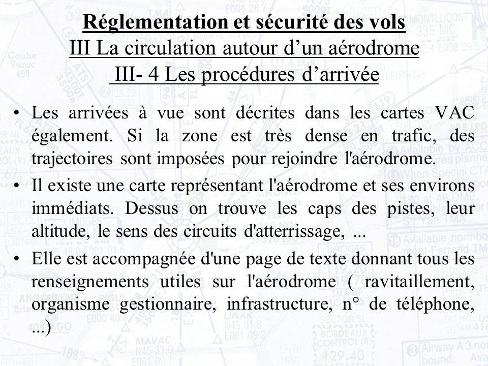 Les arrivées à vue sont décrites dans les cartes VAC également.