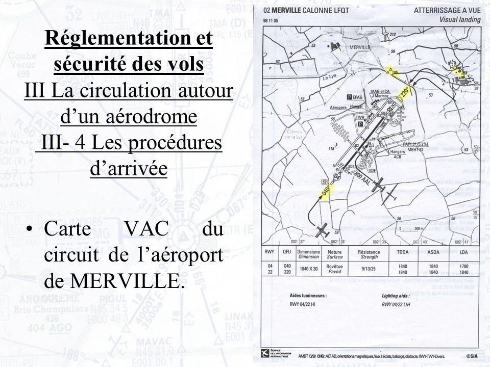 Carte VAC du circuit de laéroport de MERVILLE.