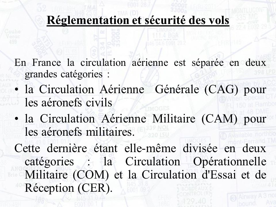 VMC en espace non contrôlé: Réglementation et sécurité des vols II La circulation aérienne II- 3 Les règles de vol à vue En dessous du FL100, la visibilité doit être de 5km.