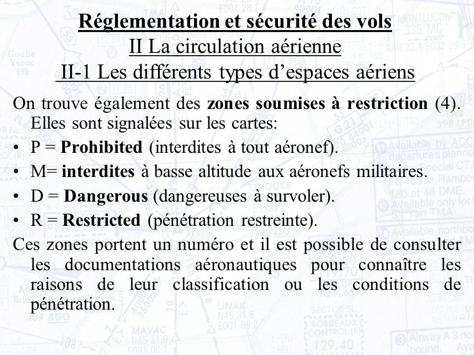 On trouve également des zones soumises à restriction (4).