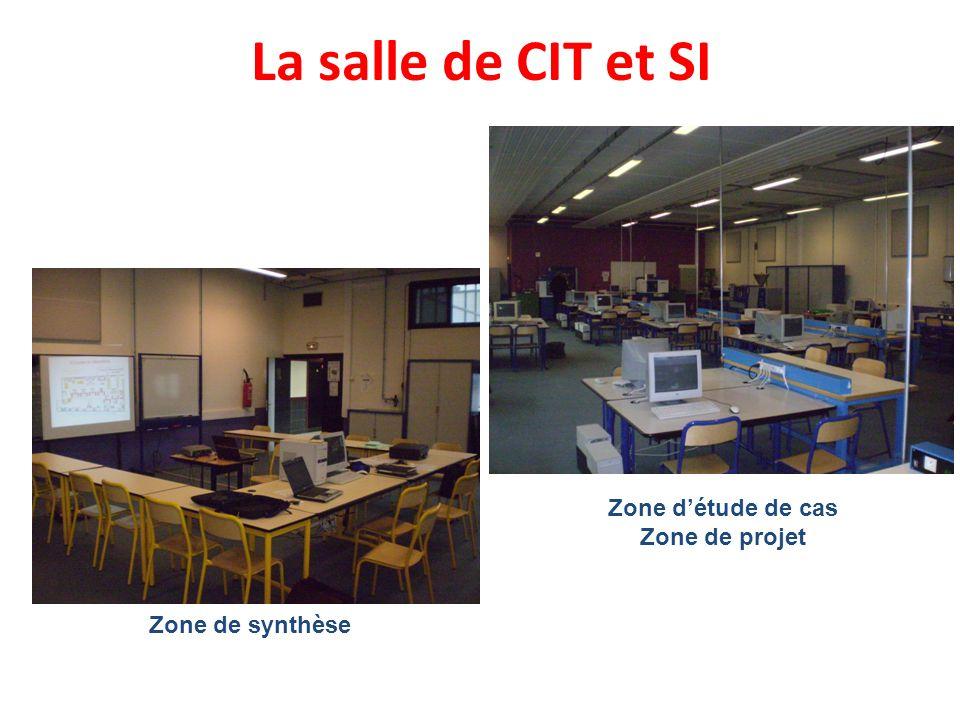 La salle de CIT et SI Zone de synthèse Zone détude de cas Zone de projet