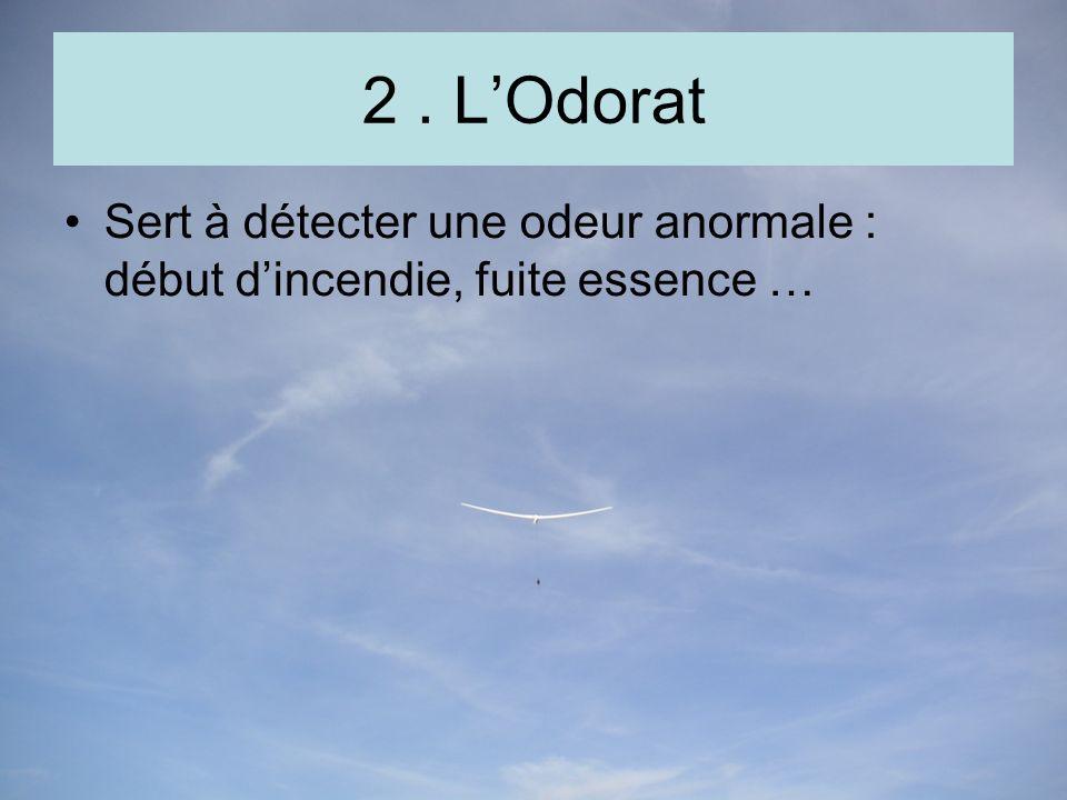 2. LOdorat Sert à détecter une odeur anormale : début dincendie, fuite essence …