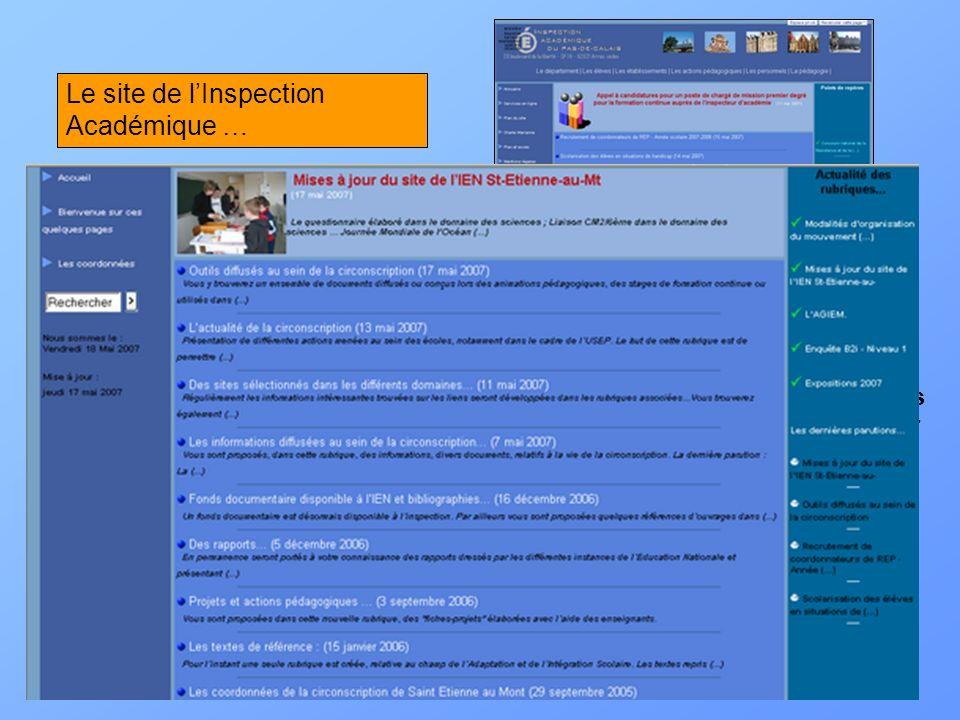http://ia62.ac-lille.fr/http://ia62.ac-lille.fr/ : Le site de référence pour les enseignants du Pas de Calais. Un ensemble dinformations administrativ