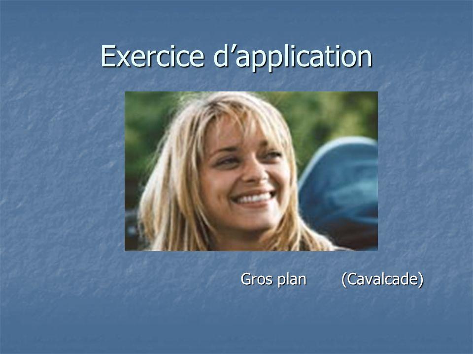 Exercice dapplication Gros plan (Cavalcade) Gros plan (Cavalcade)