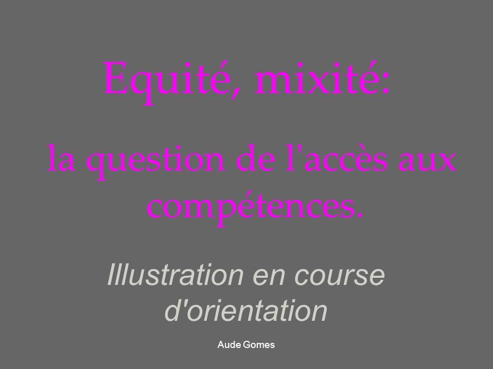 Equité, mixité: la question de l'accès aux compétences. Illustration en course d'orientation Aude Gomes
