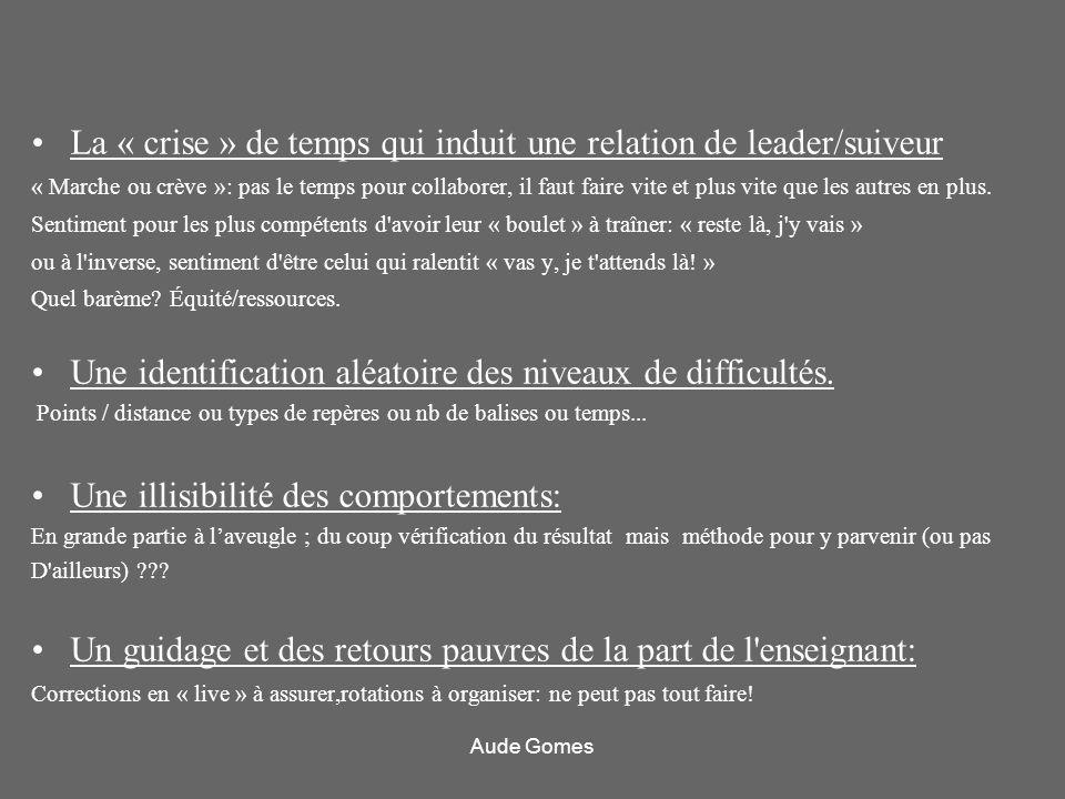 La « crise » de temps qui induit une relation de leader/suiveur « Marche ou crève »: pas le temps pour collaborer, il faut faire vite et plus vite que