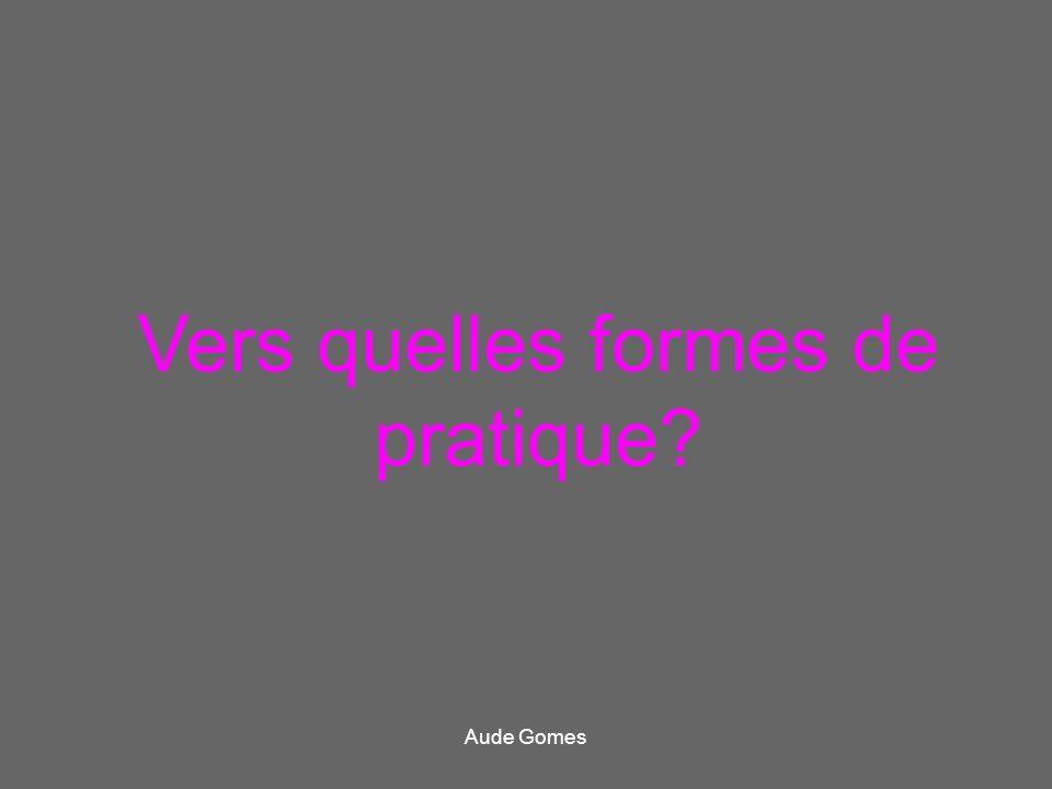 Vers quelles formes de pratique? Aude Gomes