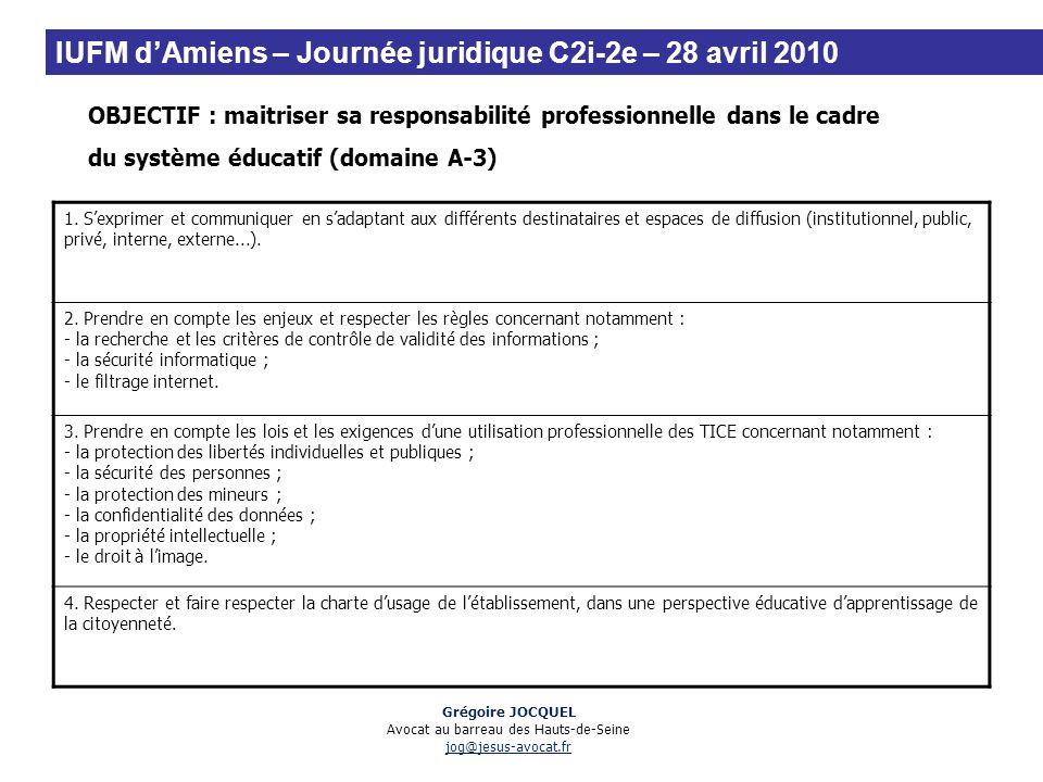 Grégoire JOCQUEL Avocat au barreau des Hauts-de-Seine jog@jesus-avocat.fr OBJECTIF : maitriser sa responsabilité professionnelle dans le cadre du syst