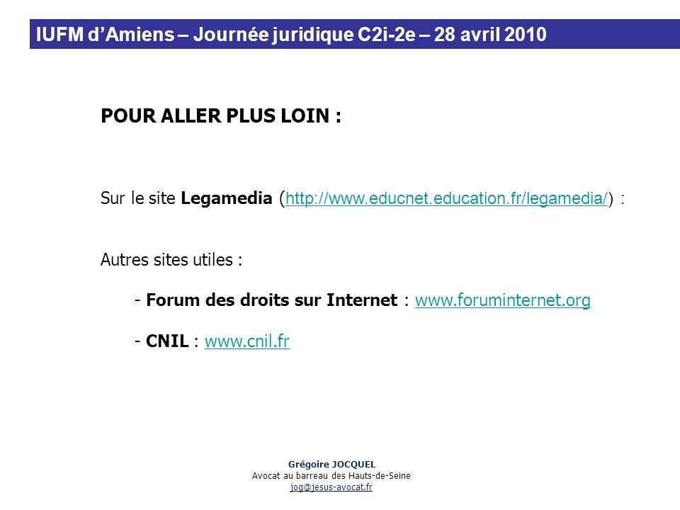 POUR ALLER PLUS LOIN : Sur le site Legamedia ( http://www.educnet.education.fr/legamedia/) : http://www.educnet.education.fr/legamedia/ Autres sites u
