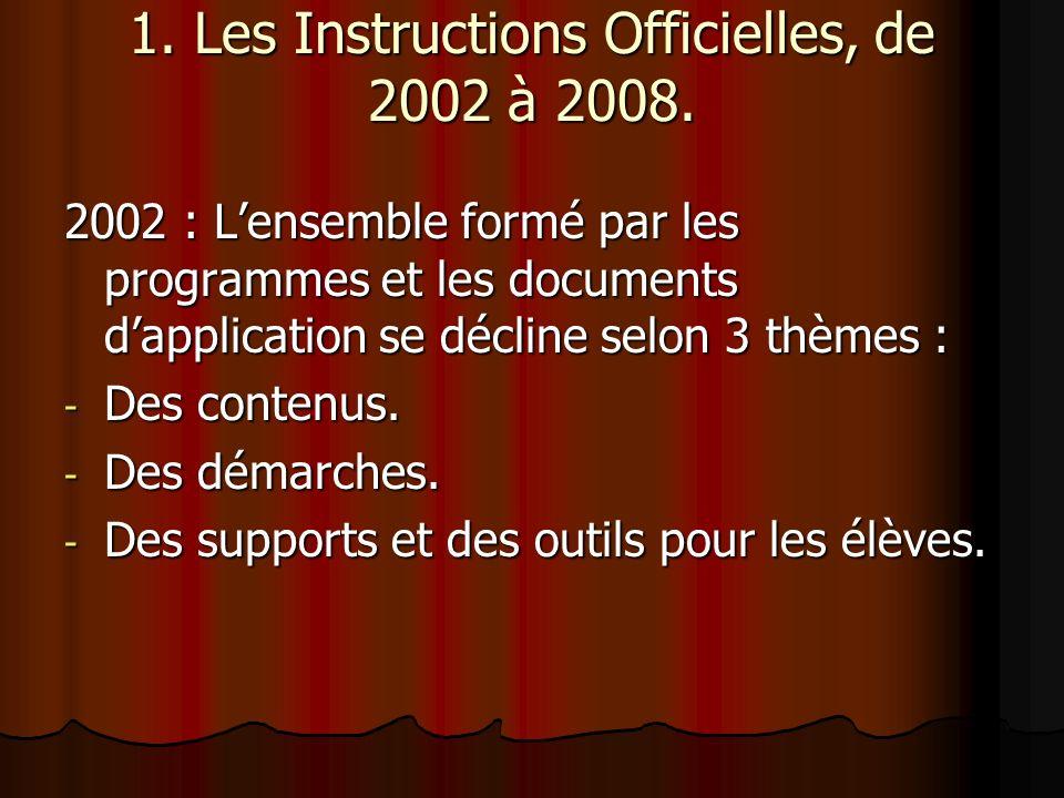 2002 : Les contenus en Histoire La préhistoire.La préhistoire.