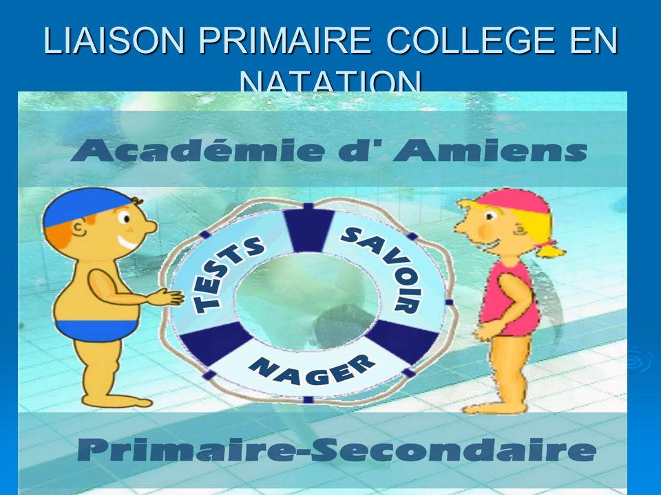 LIAISON PRIMAIRE COLLEGE EN NATATION