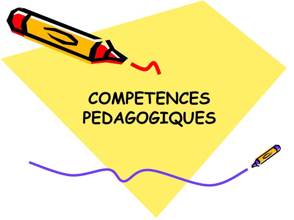 COMPETENCES PEDAGOGIQUES