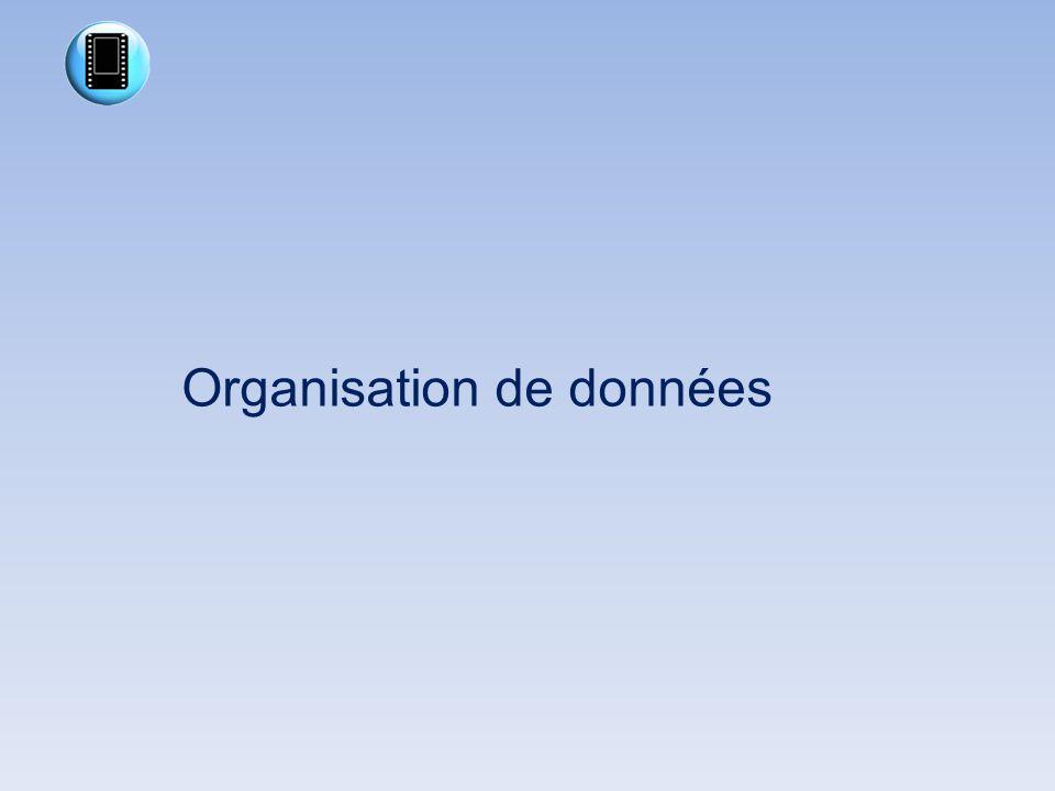 Organisation de données