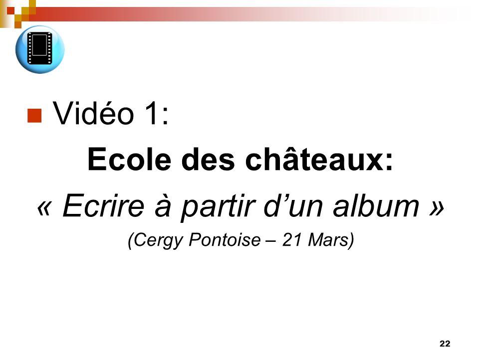 23 Vidéo2: « Ecrire pour mieux lire au CP » http://www.crdp-montpellier.fr/bsd/afficherBlocSequence