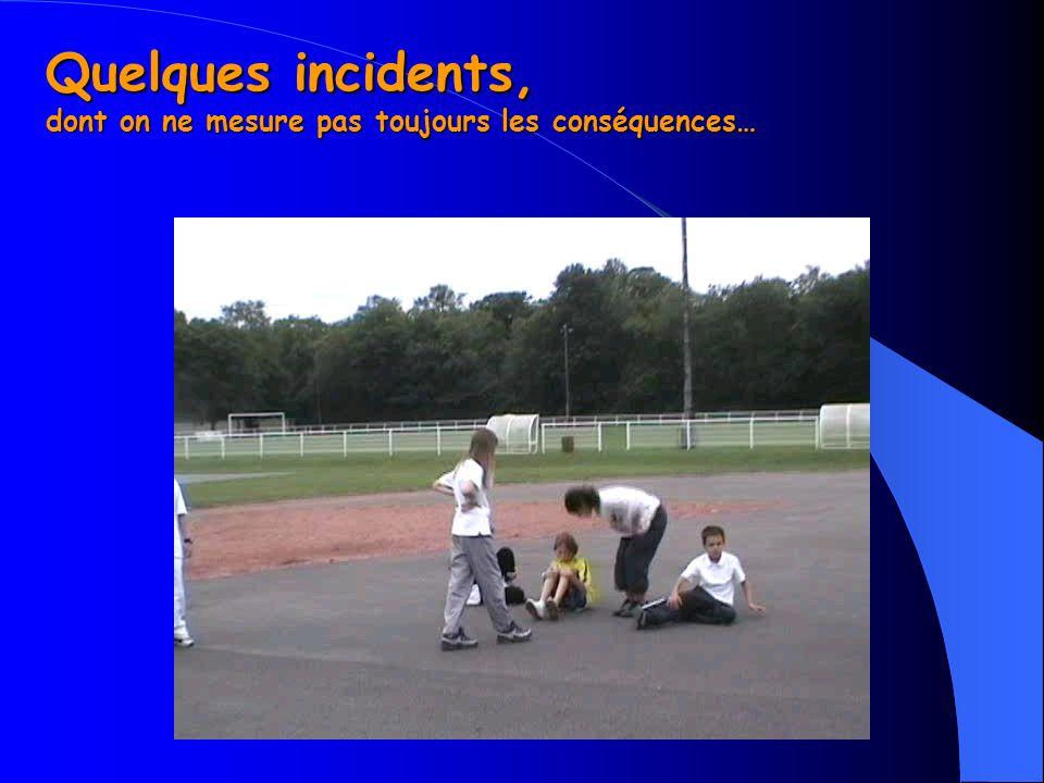 Quelques incidents, dont on ne mesure pas toujours les conséquences…