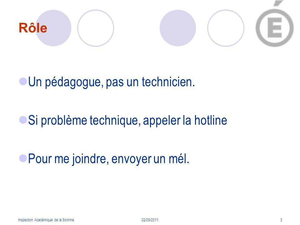 Inspection Académique de la Somme02/09/20114 Base élève E.N.T.