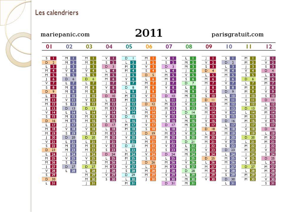 Les calendriers