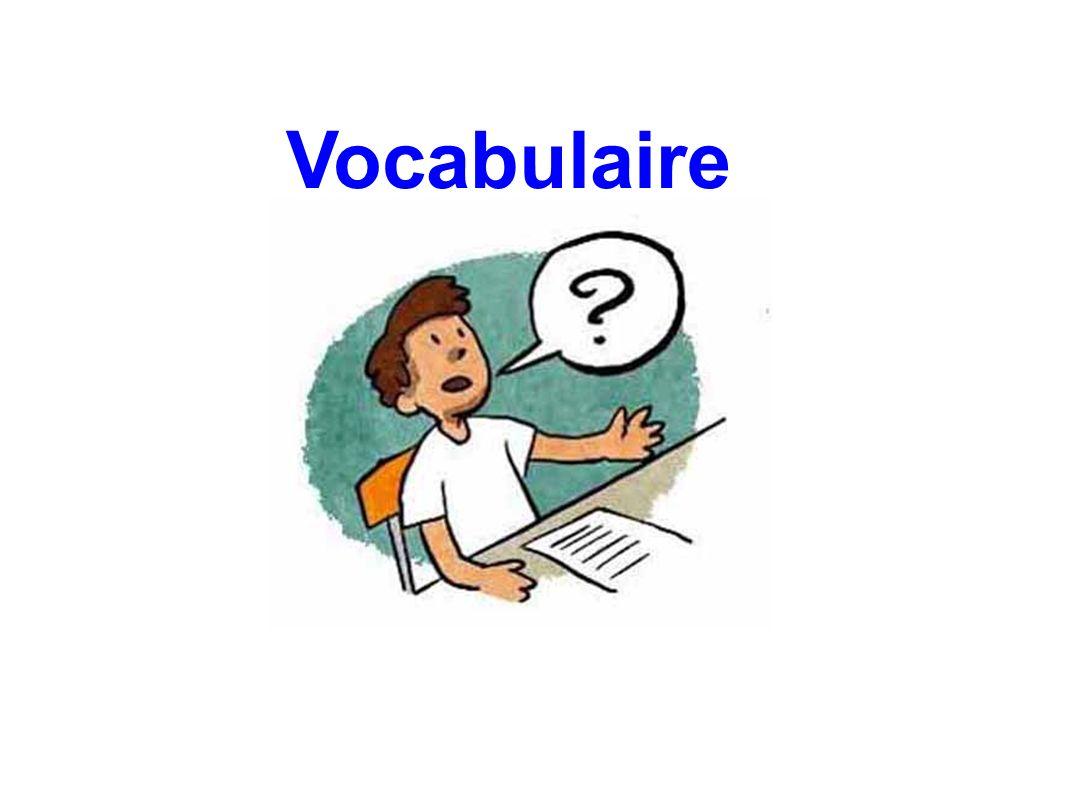 Qu évoque pour vous le mot vocabulaire .Qu est pour vous l enseignement du vocabulaire.