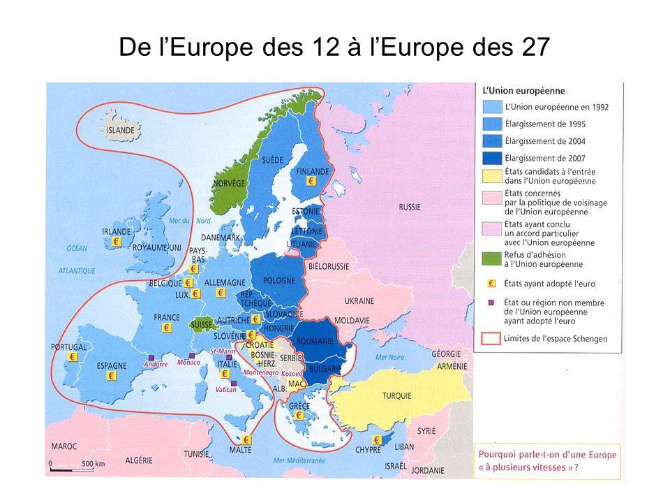 De lEurope des 12 à lEurope des 27