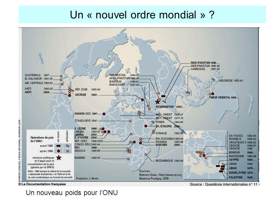 Un « nouvel ordre mondial » ? Un nouveau poids pour lONU