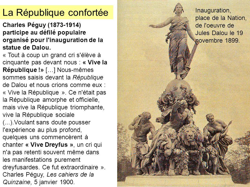 Charles Péguy (1873-1914) participe au défilé populaire organisé pour l'inauguration de la statue de Dalou. « Tout à coup un grand cri s'élève à cinqu