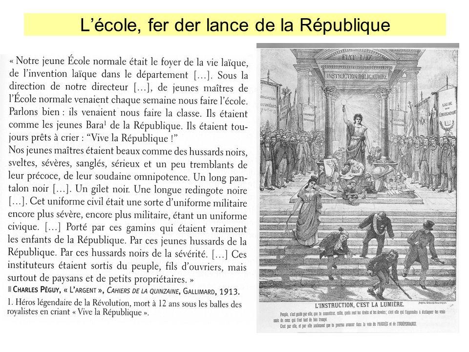 Lécole, fer der lance de la République