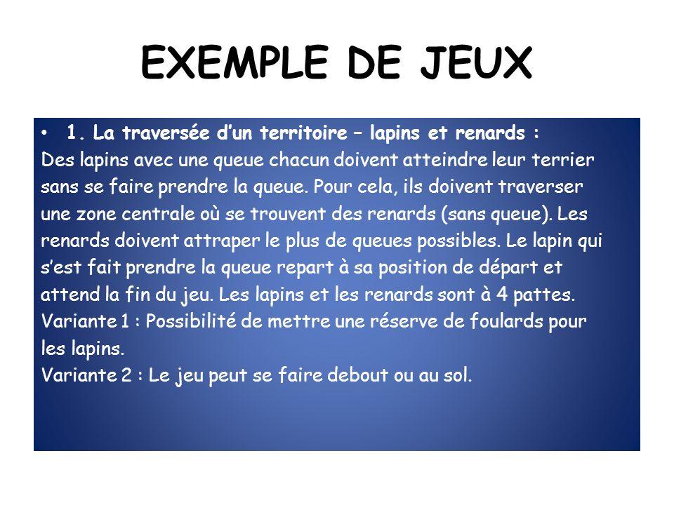 EXEMPLE DE JEUX 1.