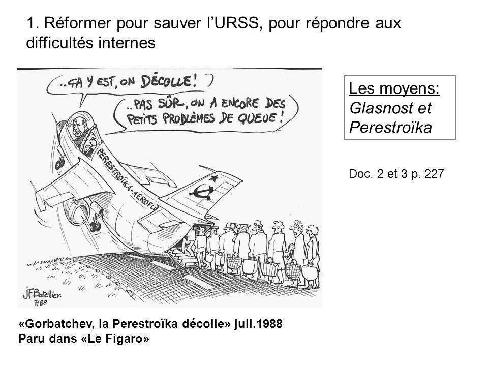 «Gorbatchev, la Perestroïka décolle» juil.1988 Paru dans «Le Figaro» 1.