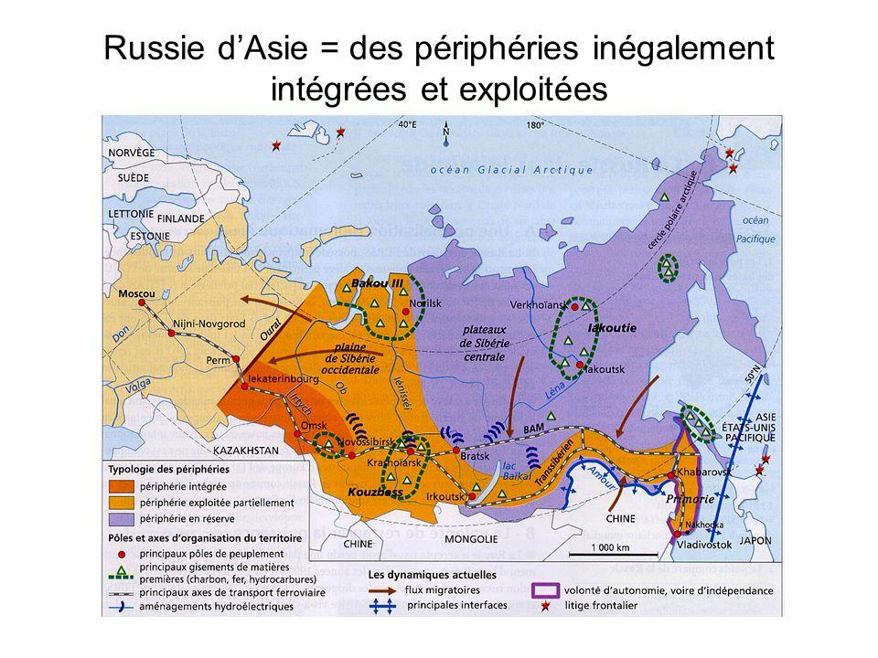 Russie dAsie = des périphéries inégalement intégrées et exploitées