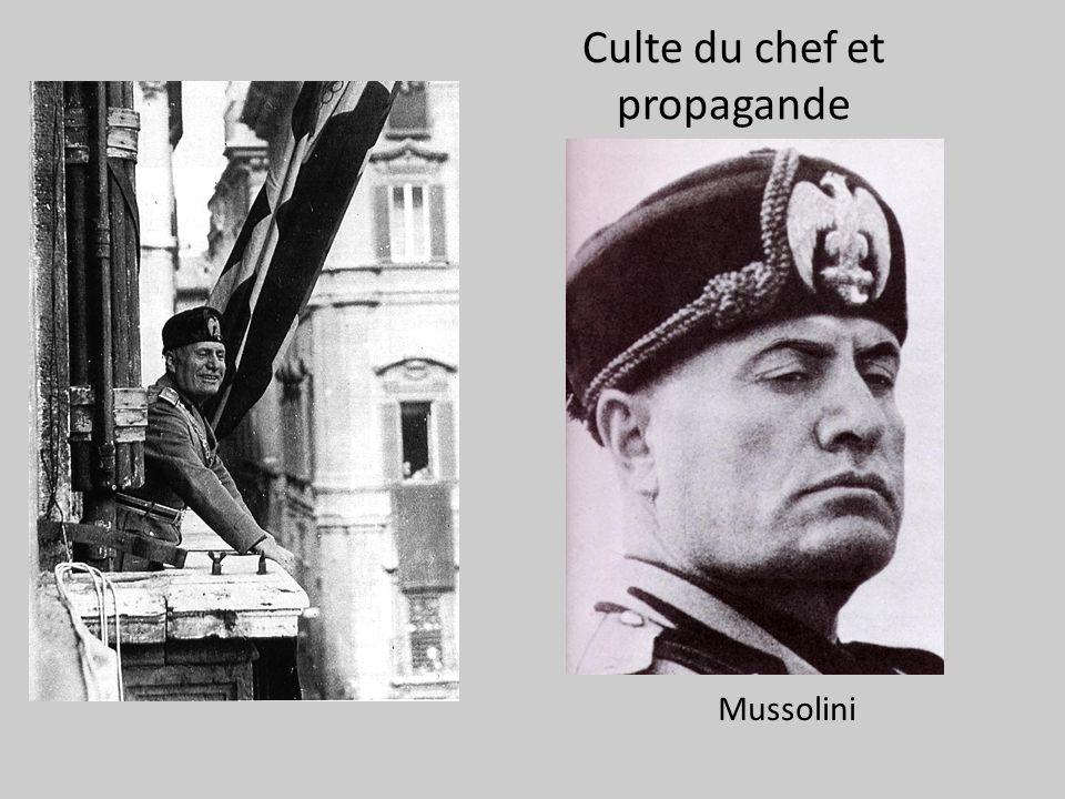Culte du chef et propagande Mussolini