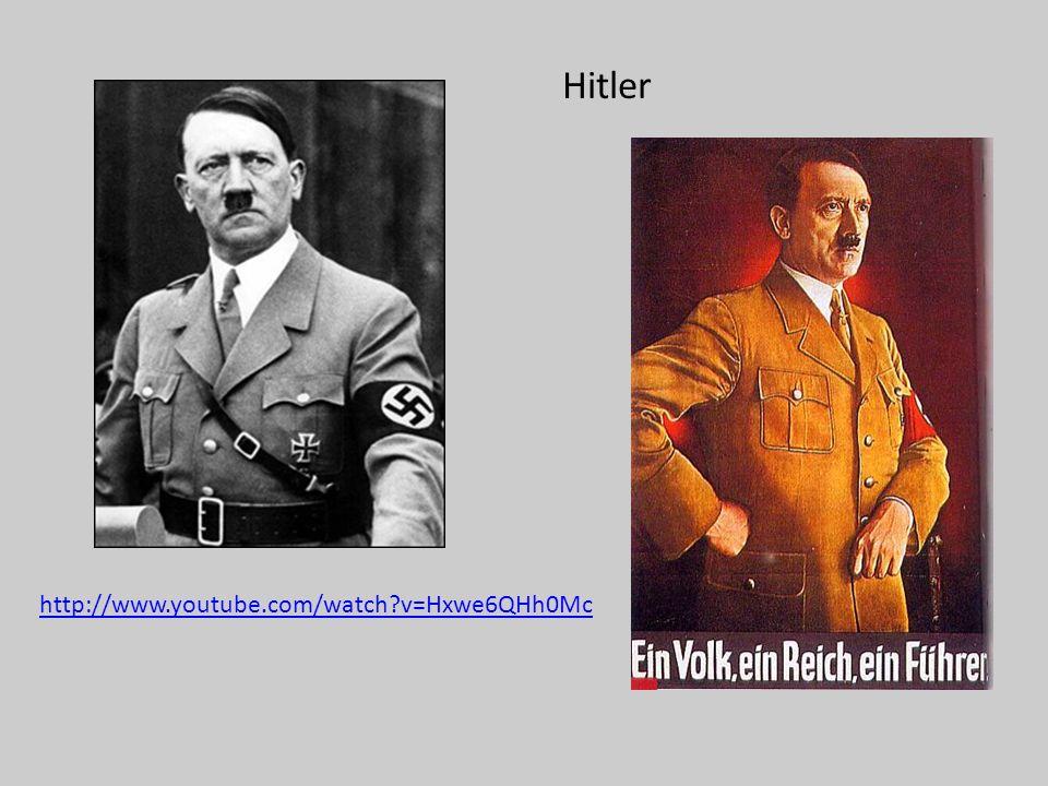 Hitler http://www.youtube.com/watch?v=Hxwe6QHh0Mc