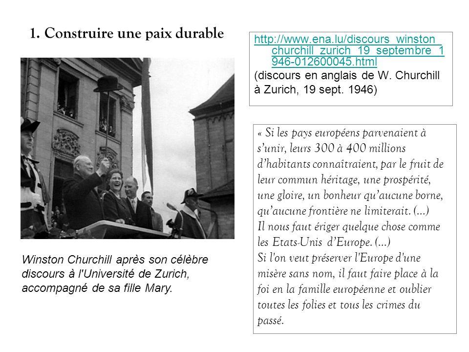 http://www.ena.lu/discours_winston_ churchill_zurich_19_septembre_1 946-012600045.html (discours en anglais de W. Churchill à Zurich, 19 sept. 1946) «