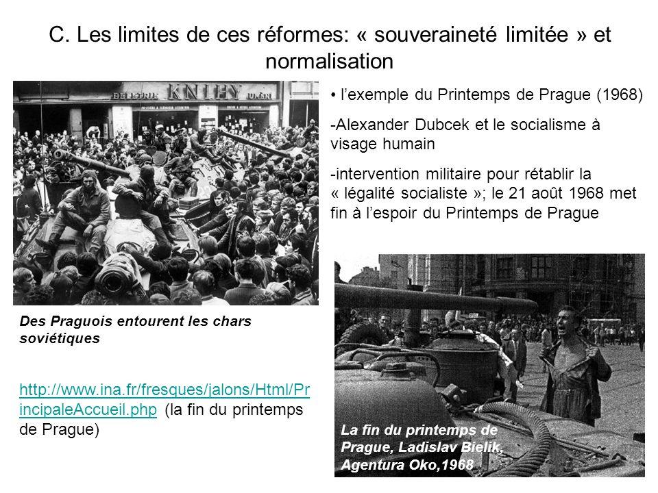 C. Les limites de ces réformes: « souveraineté limitée » et normalisation La fin du printemps de Prague, Ladislav Bielik, Agentura Oko,1968 Des Praguo