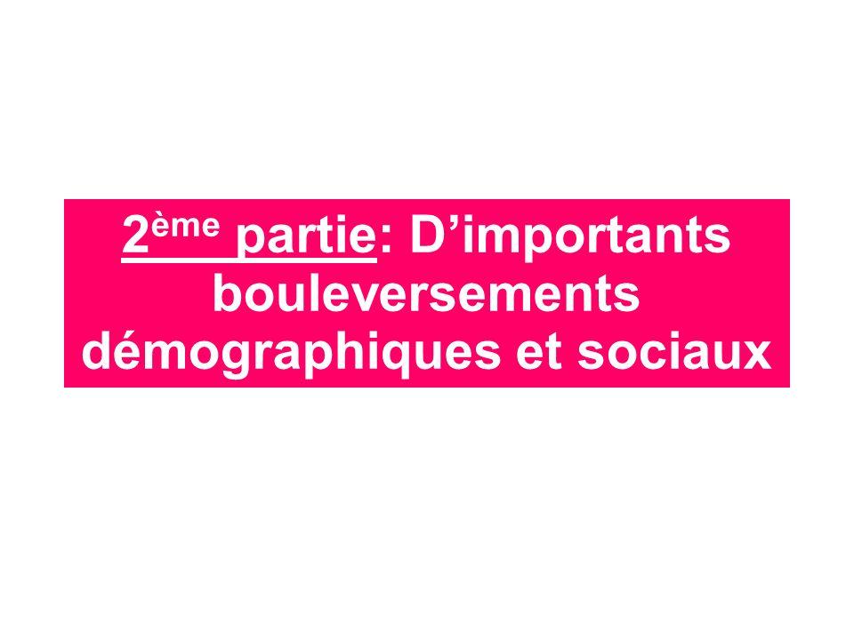 2 ème partie: Dimportants bouleversements démographiques et sociaux